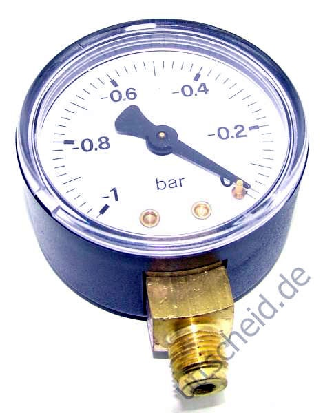 Vakuummeter 1/8 radial -1 - 0 bar