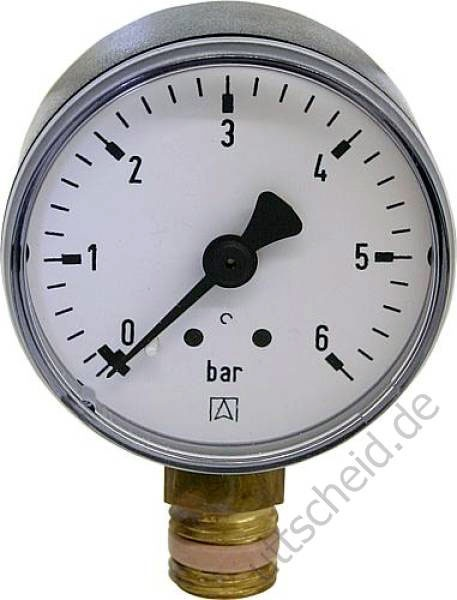 Rohrfedermanometer Gas 0 - 1 bar