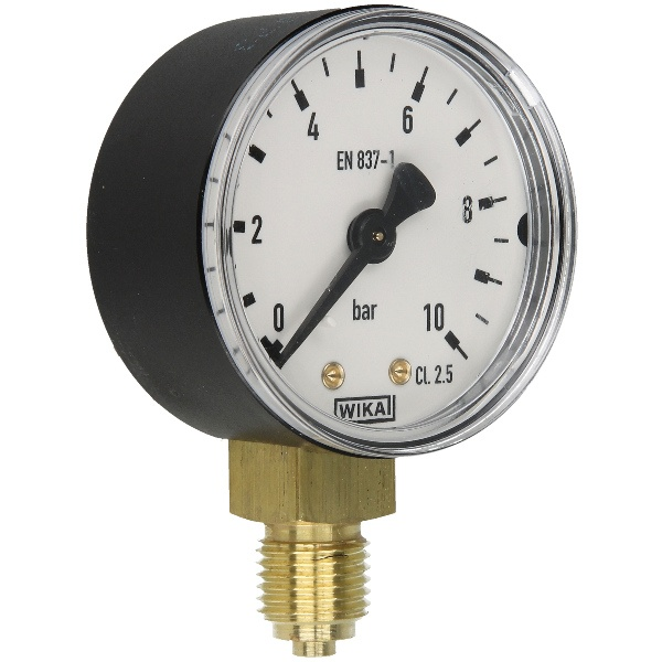 Druckmanometer 1/4 radial 0-10 bar