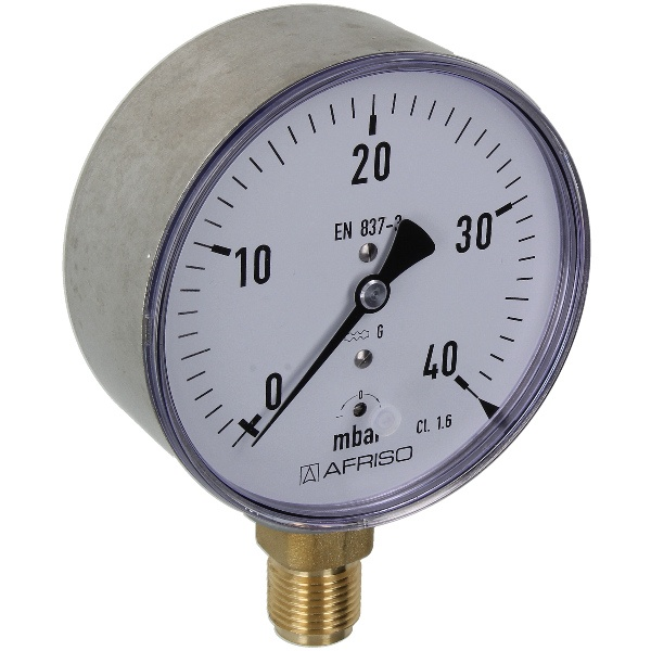 Kapselfedermanometer Gas 0 - 40 mbar