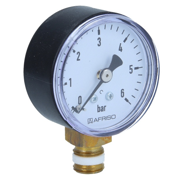 Druckmanometer 1/4 radial 0-6 bar