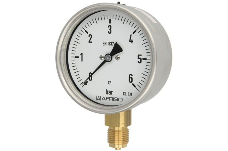 Rohrfedermanometer Gas 0 - 6 bar