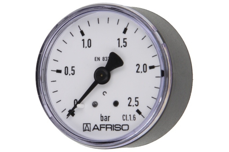 Druckmanometer 1/4 axial 0 - 2,5 bar