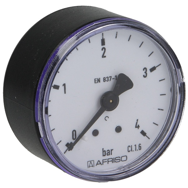 Druckmanometer 1/4 axial 0-4 bar