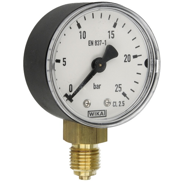 Druckmanometer 1/4 radial 0-25 bar