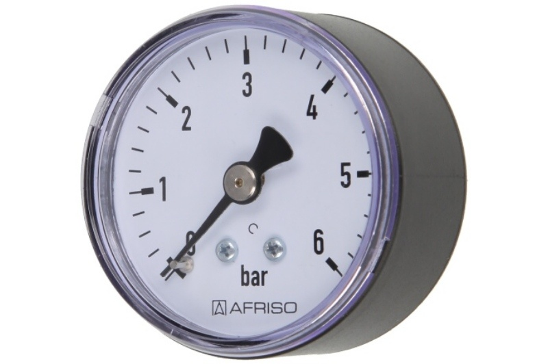 Druckmanometer 1/4 axial 0-6 bar