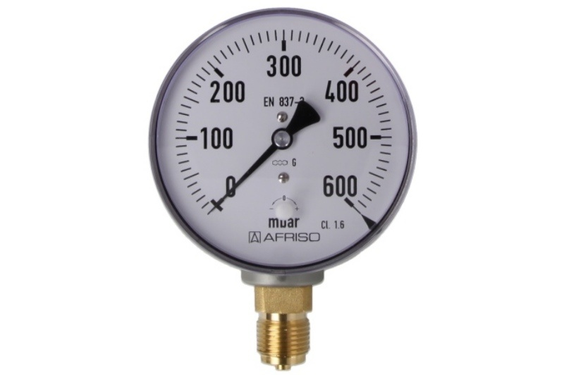 Kapselfedermanometer Gas 0 - 600 mbar
