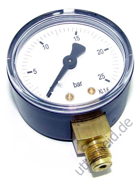 Druckmanometer 1/8 radial 0-25 bar