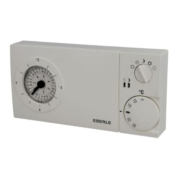 Eberle Uhrenthermostat mit Quarzuhr easy 3 sw