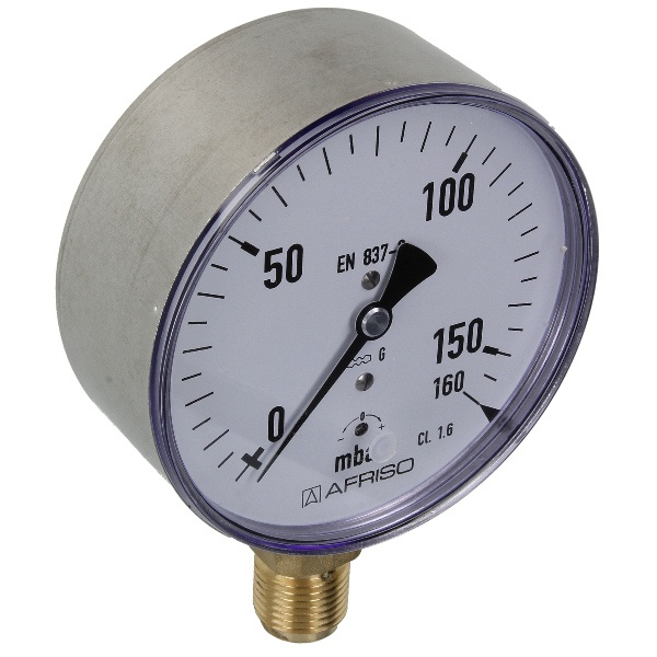 Kapselfedermanometer Gas 0 - 160 mbar