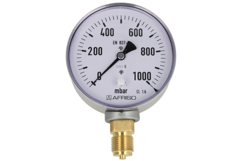 Kapselfedermanometer Gas 0 - 1000 mbar