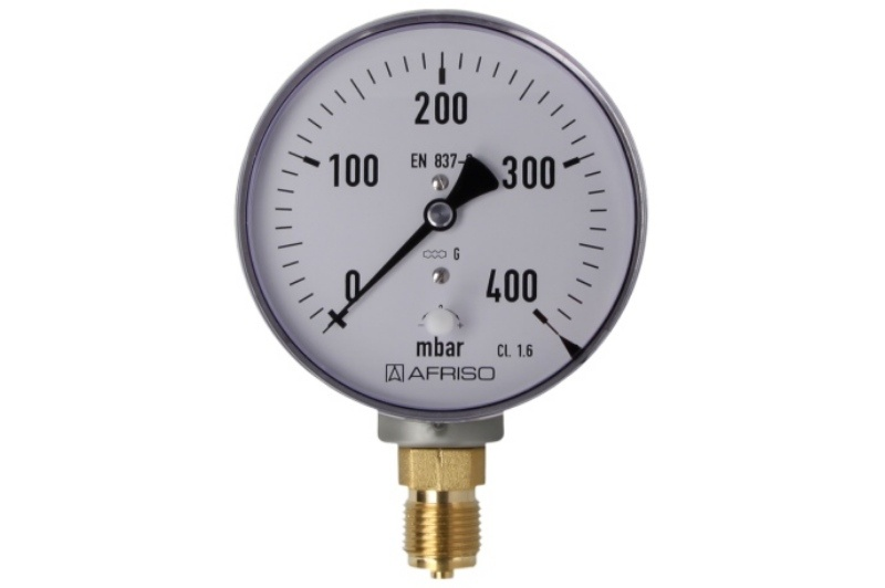 Kapselfedermanometer Gas 0 - 400 mbar