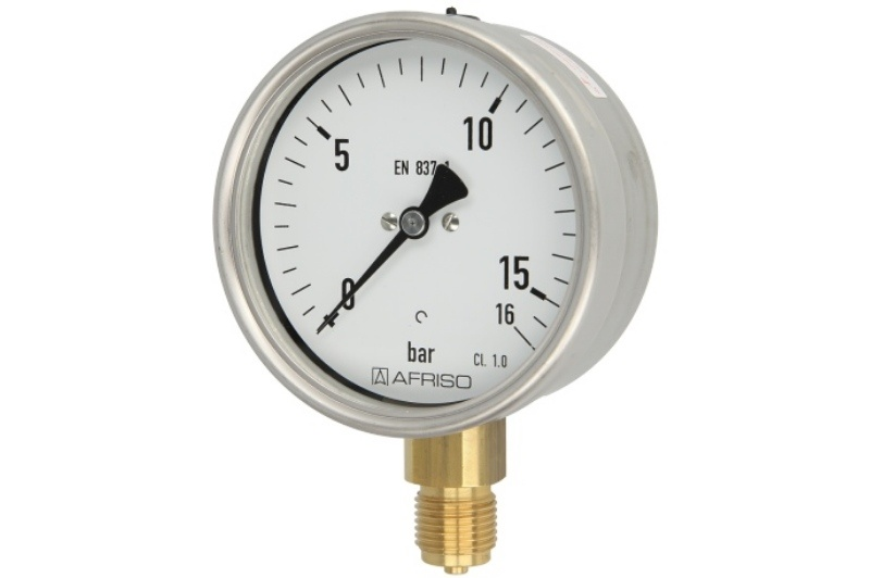 Rohrfedermanometer Gas 0 - 16 bar